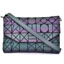GOWETION Women Geometric Handbags Luminous Purses Leather Crossbody Tote Bags Shoulder Satchel Handbags for Girls