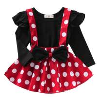 IBTOM CASTLE Polka Dots Tutu Costume for Baby Girl Princess 1st Birthday Party,Dress Up w/Overall Suspender Skirt,Headband