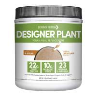 Designer Protein Designer Plant Vegan Meal Replacement Protein Powder, Essential 10, Belgian Chocolate, 1.32 Pound