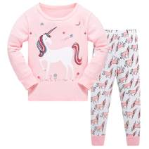 Papoopy Girls Unicorn Pajama Set 2-8 Years