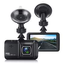 Dash Cam for Cars, EIVOTOR 1080P Front Driving Video Recorder with 170° Wide-Angle Lens, 3.0'' Dashboard Camera Recorder with Motion Detection and Loop Recording, Black