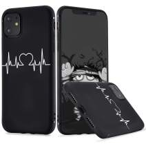 LuGeKe Sweet Heartbeat Phone Case for iPhone11, Cute Love Patterned Case Cover,Soft TPU Cover Flexible Ultra Slim Anti-Stratch Bumper Protective Boys Phonecase(Love Heartbeat)