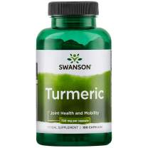 Swanson Premium Brand Turmeric Whole Root Powder, 720 mg, 100 Gelatin Caps