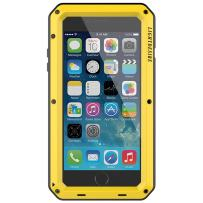 Metal iPhone 8 Plus Case, 7 Plus Case 5.5 Inch LIGHTDESIRE Aluminum Protective Metal Extreme Water Resistant Shockproof Military Bumper Heavy Duty Cover Shell (Yellow)