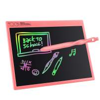 FOVIUPET LCD Writing Tablet 10/16/21 Inches Colorful Screen Drawing Pad, Doodle and Scribbler Boards for Kids, Educational Learning Toys for 3-15 Year Old Girls (Pink, 16 Inch)