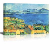 "wall26 - Bay of Marseille, View from L'Estaque by Paul Cezanne - Canvas Print Wall Art Famous Painting Reproduction - 16"" x 24"""