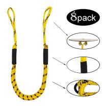 Jranter Pack of 8 Bungee Dock Lines - Marine Rope for Boat