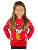 Tstars Ugly Christmas Sweater Cute Funny Reindeer for Girls Boys Kids Toddler