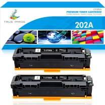 True Image Compatible Toner Cartridge Replacement for HP 202A CF500A 202X CF500X Color Laserjet Pro MFP M281fdw M281cdw M254dw M254nw M281fdn M280nw M254 M281 Toner Ink Printer (Black, 2-Pack)