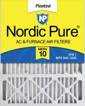 Nordic Pure 20x25x5 (4-3/8 Actual Depth) MERV 10 Honeywell Replacement Pleated AC Furnace Air Filter, Box of 2
