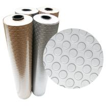 Rubber-Cal Coin Grip Metallic PVC Flooring