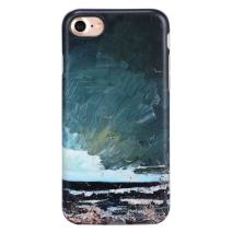 iPhone 7 Case for Girls/iPhone 8 Case, GOLINK Oil Painting Series Matte Finish Slim-Fit Anti-Scratch Shock Proof Anti-Finger Print Flexible TPU Gel Case for iPhone 7/8 - Gulls