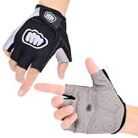 Morethan Cycling Gloves for Men Women, Half Finger Mountain Bike Gloves, 5.0mm Thickness Gel Pad, Breathable Lycra, Anti-Slip Shock