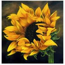 Diamond Painting Kits for Adults, Kids. Home Decoration, Room Office Sunflower in The Wind 7.9x7.9Inch
