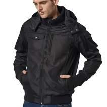 BOMBAX 10 Pockets Men Travel Jacket Flight Bomber Windbreaker Hoodie Coat Pillow