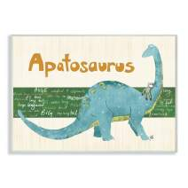 The Kids Room by Stupell Apatosaurus Dinosaur Rectangle Wall Plaque, 11 x 0.5 x 15, Proudly Made in USA