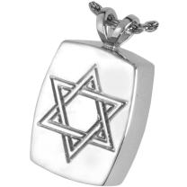 Memorial Gallery MG-3143GP Star of David 14K Gold/Sterling Silver Plating Cremation Pet Jewelry