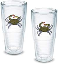 Tervis Tumbler Blue Crab 24-Ounce Double Wall Insulated Tumbler, Set of 2 - 1008325