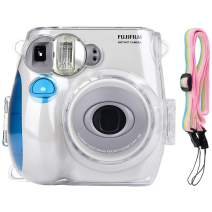 Katia Camera Case Compatible for Fujifilm Instax Mini 7S Instant Film Camera With Shoulder Strap - Transparent