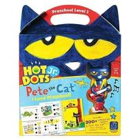 Educational Insights Hot Dots Jr. Pete The Cat - I Love Preschool Set with Interactive Pen Included, 200+ Multi-Subject Lessons, Homeschool, Ages 3+