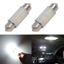 "36MM(1.5"") Calais Canbus Error Free LED Bulbs for Interior Car Lights License Plate Dome Map Door Courtesy Festoon DE3423 DE3425 6411 6418 Xenon White(Pack of 2)"