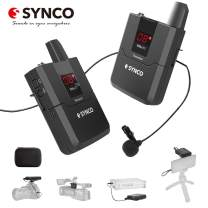 Wireless Lavalier Microphone,SYNCO WMic-T1 UHF External Microphone with Transmitter Receiver Kit 16 Channels,Max 50m Transmission Range for DSLR Camera Interview Camcorder Recorder (T1 for-WMIC)