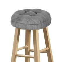 "baibu Stool Covers Round, Super Soft Round Bar Stool Cushion Covers Seat Cushion - Cushion Only(Grey,12"" (30 cm)"