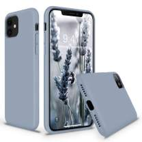 Vooii iPhone 11 Case, Soft Liquid Silicone Slim Rubber Full Body Protective iPhone 11 Case Cover (with Soft Microfiber Lining) Design for iPhone 11 - Lavender Grey