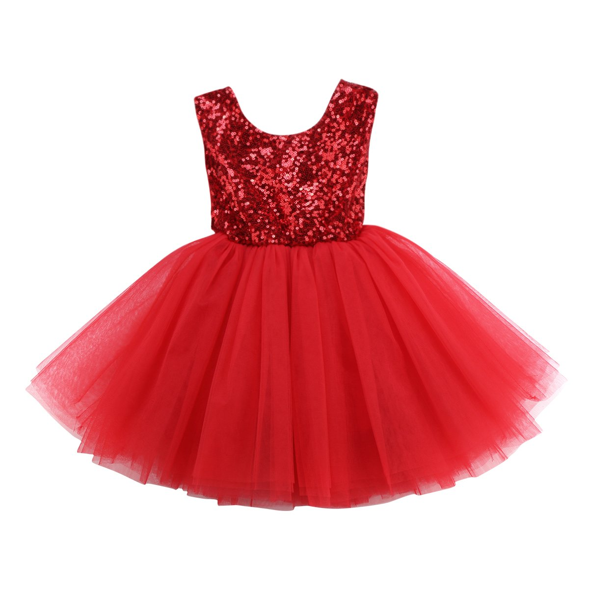 Baby Girls Sleeveless Flower Wedding Pageant Princess Bowknot Party Dress Infant Lace Tutu Dresses 0-5Years