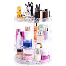 Bonzy Home Makeup Organizer 360-Degree Rotating, Adjustable Multi-Function Makeup Storage, Large Capacity Cosmetic Storage Unit, Plus Size