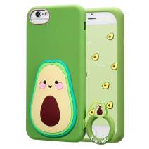 """Coralogo for iPhone 6/7 /8 /6S Case,3D Cute Cartoon Funny Fruit Soft Silicone Character Shockproof Designer Skin Kawaii Fashion Cool Fun Cover Cases for Girls Teens Kids iPhone 6/7/8/6S 4.7""""(Avocado)"""