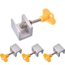 6 Sets Sliding Window Locks Window Door Frame Locks Adjustable Aluminum Alloy Window Frame Lock with Key for Home and Office Supplies