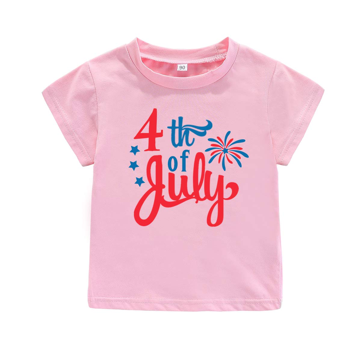 4th of July Toddler Baby T-Shirt Outfit USA Flag Independence Day Tee Kids Patriotic Top