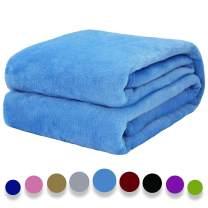 "Auchen Flannel Fleece Blanket Throw Azure Home Blanket,Fluffy Blanket Warm Bed Throws for Sofa and Pet,Exquisite Comfortable Azure Flannel Fleece Blanket 130(50"") x150(60"") cm"