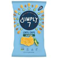 Simply 7 Lentil Chips, Jalapeno, 4 Ounce (Pack of 12), Packaging May Vary