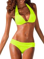 Ofenbuy Womens Padded Halter Bikini Set Two Piece Swimsuits Bathing Suits