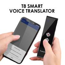 Smart Language Translator Device, Real Time Two Way Voice Translator Support 44 Languages Chinese English French Japanese Spanish Russian for Learning Business Travel Meeting (Gray)