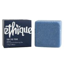 Ethique Eco-Friendly Solid Shampoo & Shaving Bar, Tip To Toe - Sustainable Natural Multi-Use Shampoo & Shave Bar, Plastic Free, Soap Free, Vegan, Plant Based, 100% Compostable and Zero Waste, 3.88oz