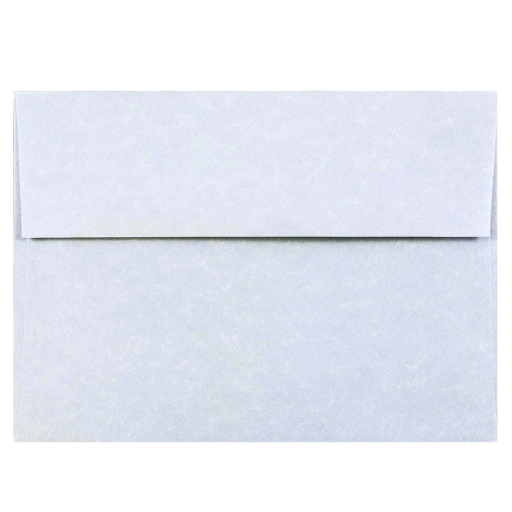 JAM PAPER A7 Parchment Invitation Envelopes - 5 1/4 x 7 1/4 - Blue Recycled - 25/Pack