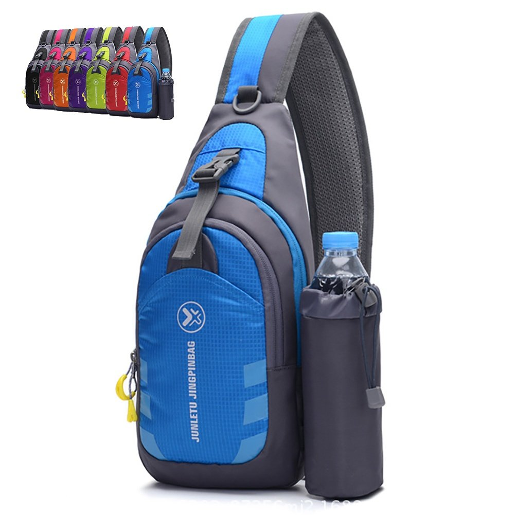 Peicees Chest Crossbody Sling Backpack Bag Travel Bike Gym Daypack for Women Men