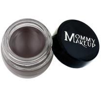 Mommy Makeup Waterproof Stay Put Gel Eyeliner with Semi-Permanent Micropigments - smudge-proof, long wearing, paraben-free Chocolate Kiss (Deep Brown/Black)