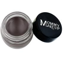 Mommy Makeup Waterproof Stay Put Gel Eyeliner with Semi-Permanent Micropigments - smudge-proof, long wearing, paraben-free Chocolate Kiss (Deep Brown/Black)