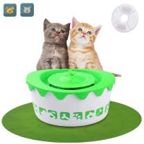 LOGROTATE Pet Fountain Cat Water Dispenser – Dog Fountain Automatic Pet Water Fountain Electric Animal Drinking Fountain 1.8L with Filter for Cats, Dogs and Small Animals