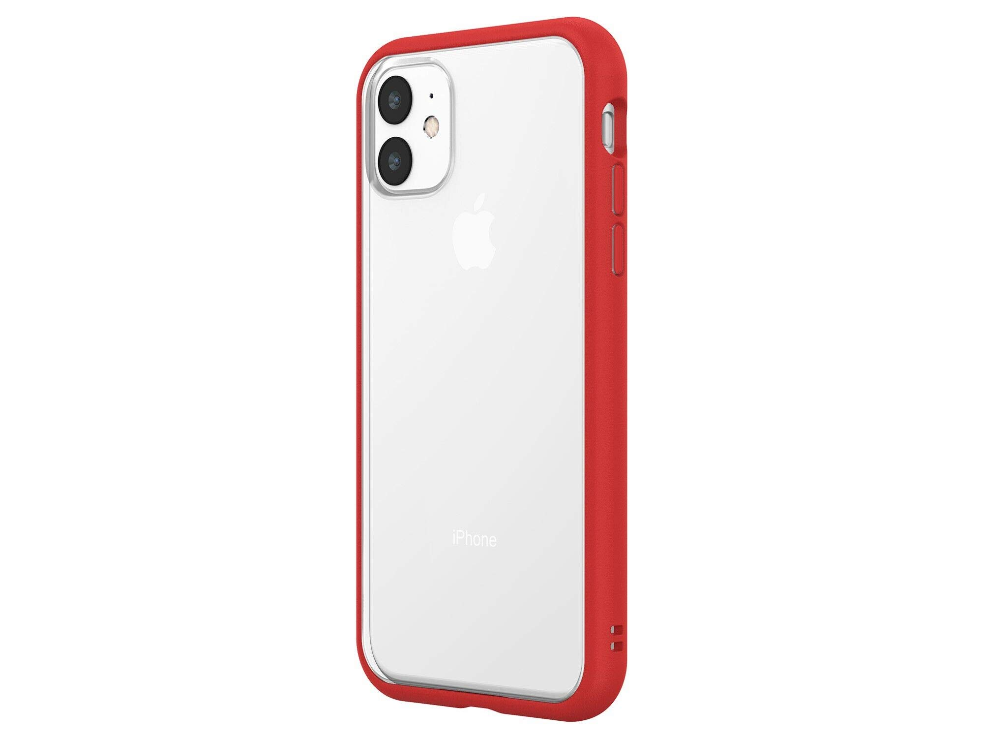 RhinoShield Modular Case Compatible with [iPhone 11] | Mod NX - Customizable Shock Absorbent Heavy Duty Protective Cover - Red