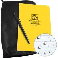 "Rite in the Rain Weatherproof Bound Book Kit: Black CORDURA Fabric, 4 5/8"" x 7 1/4"" Yellow Notebook, and Weatherproof Pen (No. 374B-KIT)"
