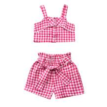 Toddler Baby Girl Short Outfit Sleeveless Crop Top Ruffle Short Pants Summer Clothes Set
