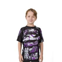 Fusion Fight Gear Teenage Mutant Ninja Turtles Shredder BJJ Rashguard- Kids Compression Shirt