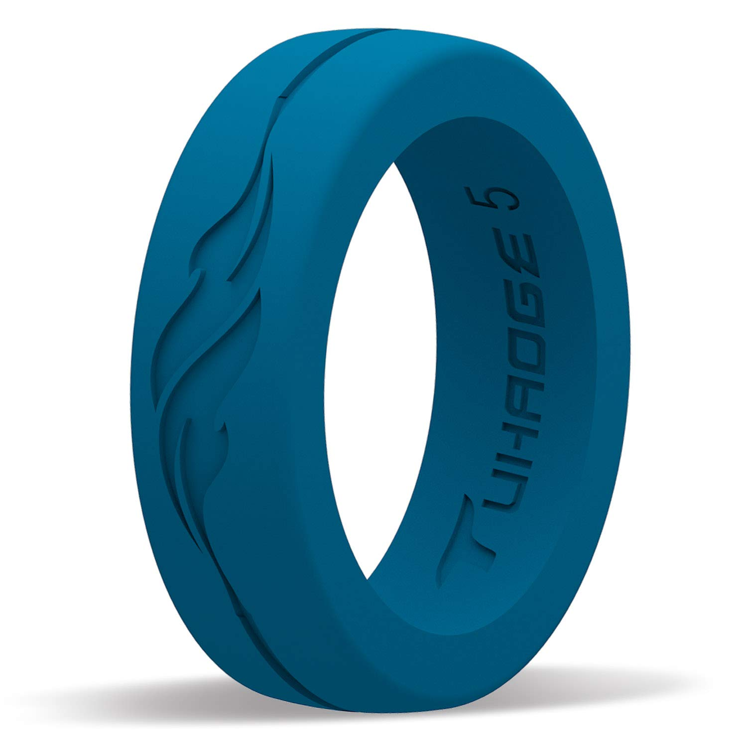 Tuhaoge Women's Silicone Wedding Ring Silicone Rubber Wedding Bands Representing The Pattern of Independent Freedom and Dreams, Promise Your Favorite Silicone Ring