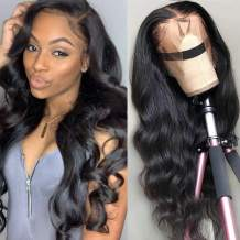 NOBILITY Hair Brazilian 10A Body Wave Lace Front Wigs Human Hair 100% Unprocessed Virgin Human Hair 13x4 Lace Frontal Wigs with Baby Hair for Black Women Natural Hairline(22inch)