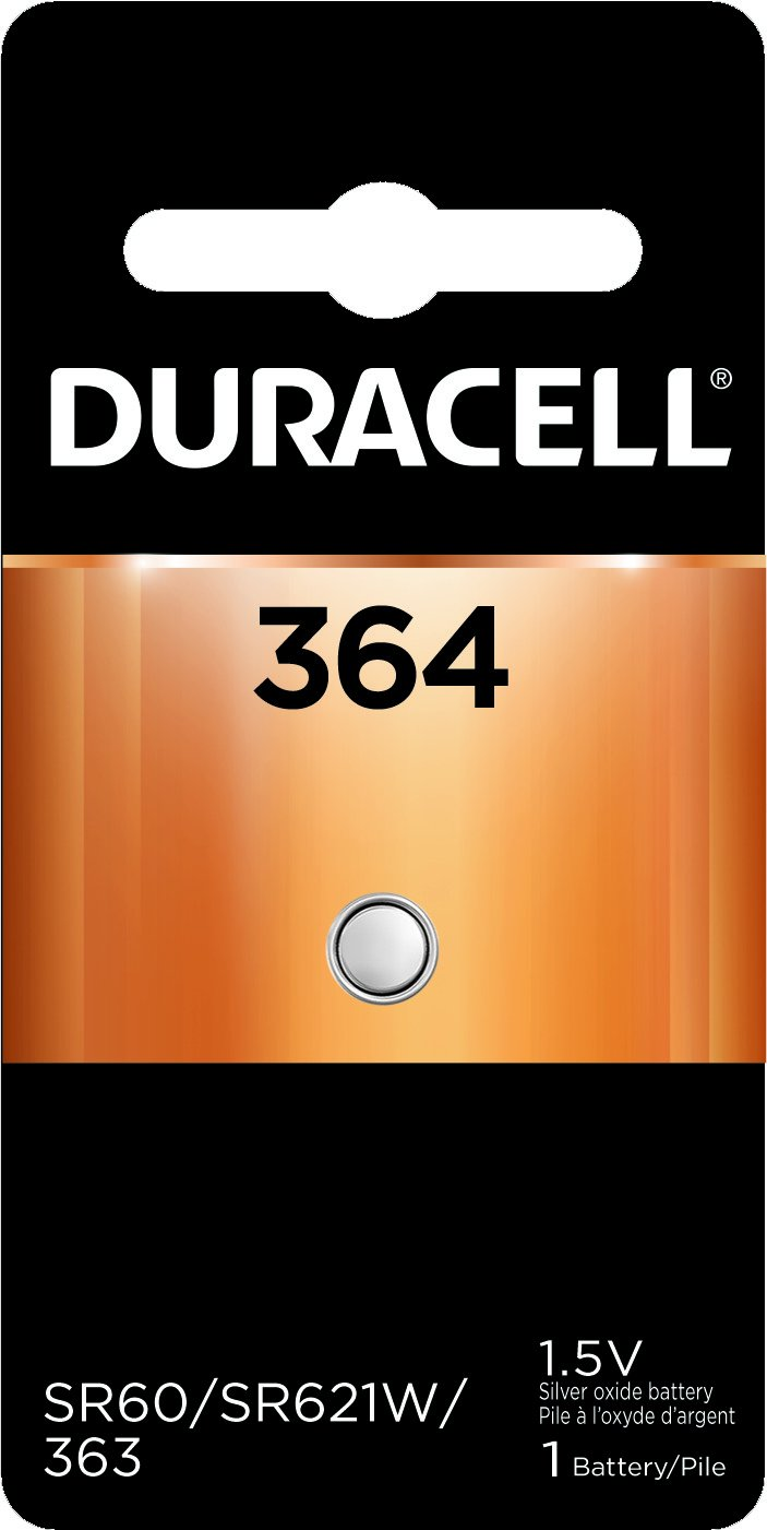 Duracell – 364 1.5V Silver Oxide Button Battery – long-lasting battery – 1 count